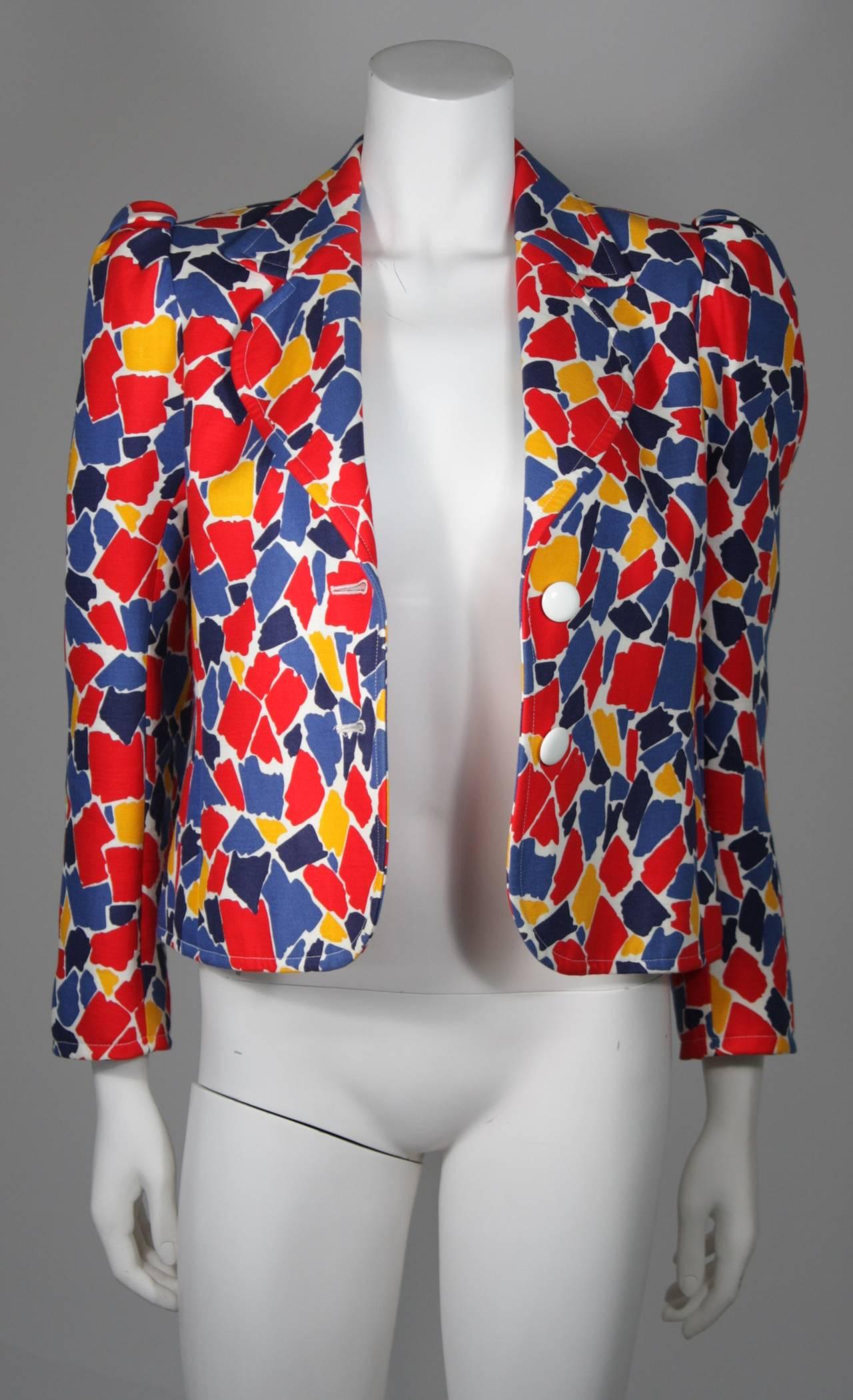 Saint Laurent Multi Primary Color Jacket Size 38 7