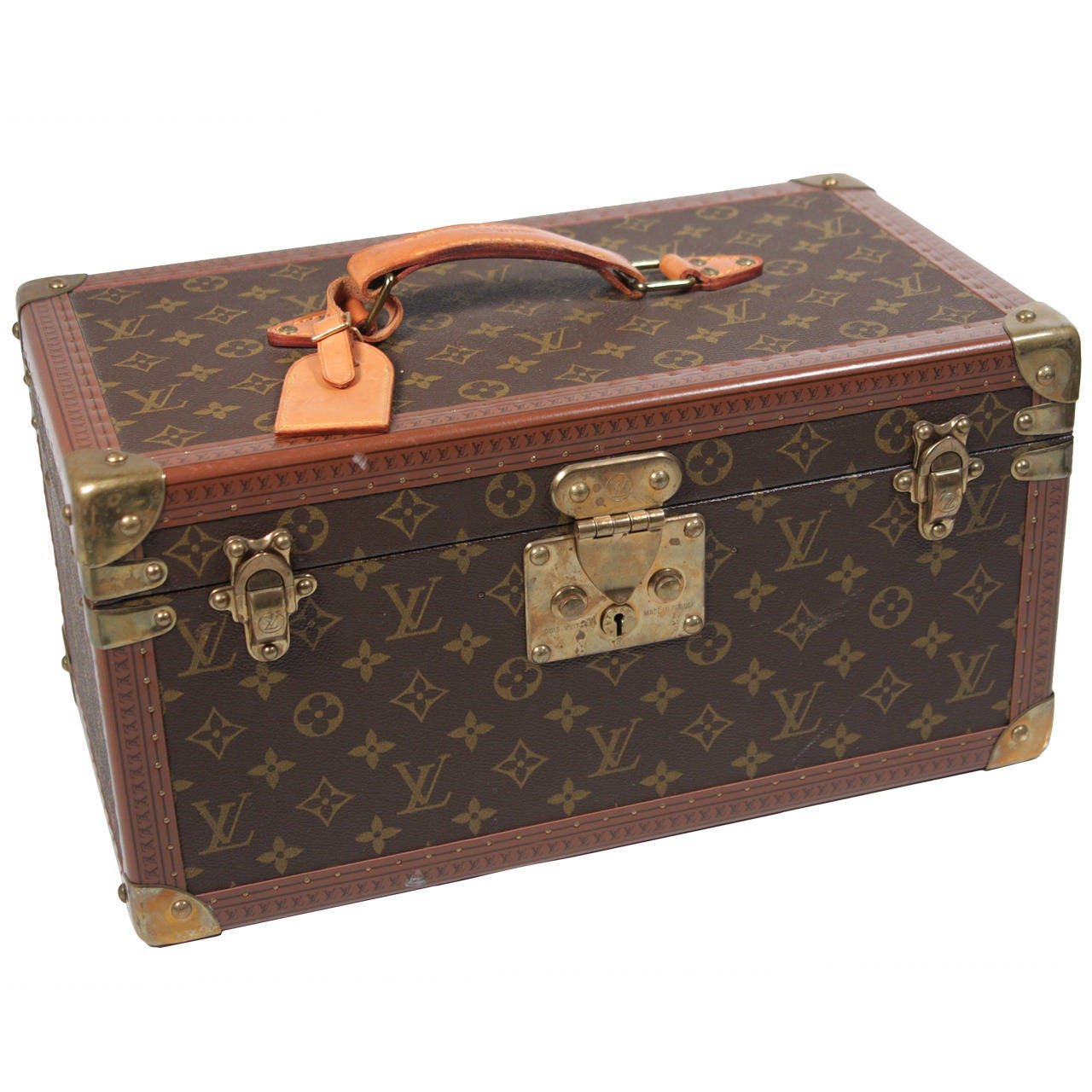 Louis Vuitton Vintage Monogram Cosmetic Travel Train Case  1