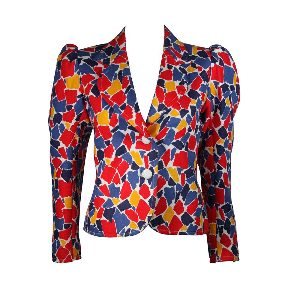 Saint Laurent Multi Primary Color Jacket Size 38 1
