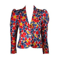 Saint Laurent Multi Primary Color Jacket Size 38