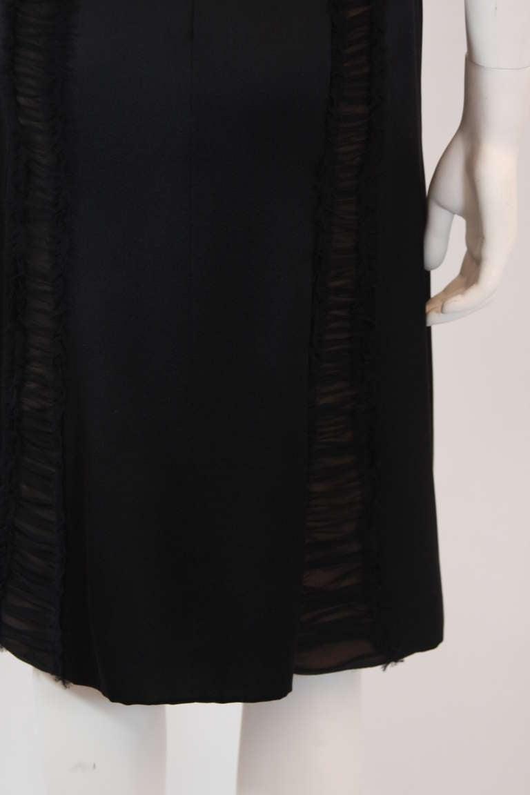 Wonderful Badgley Mischka Black Silk Cocktail Dress Size Small For Sale 4