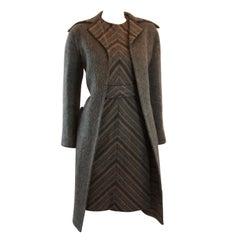 Pauline Trigere Wonderful 3 Piece Reversible Coat with Dress Set  Size Small