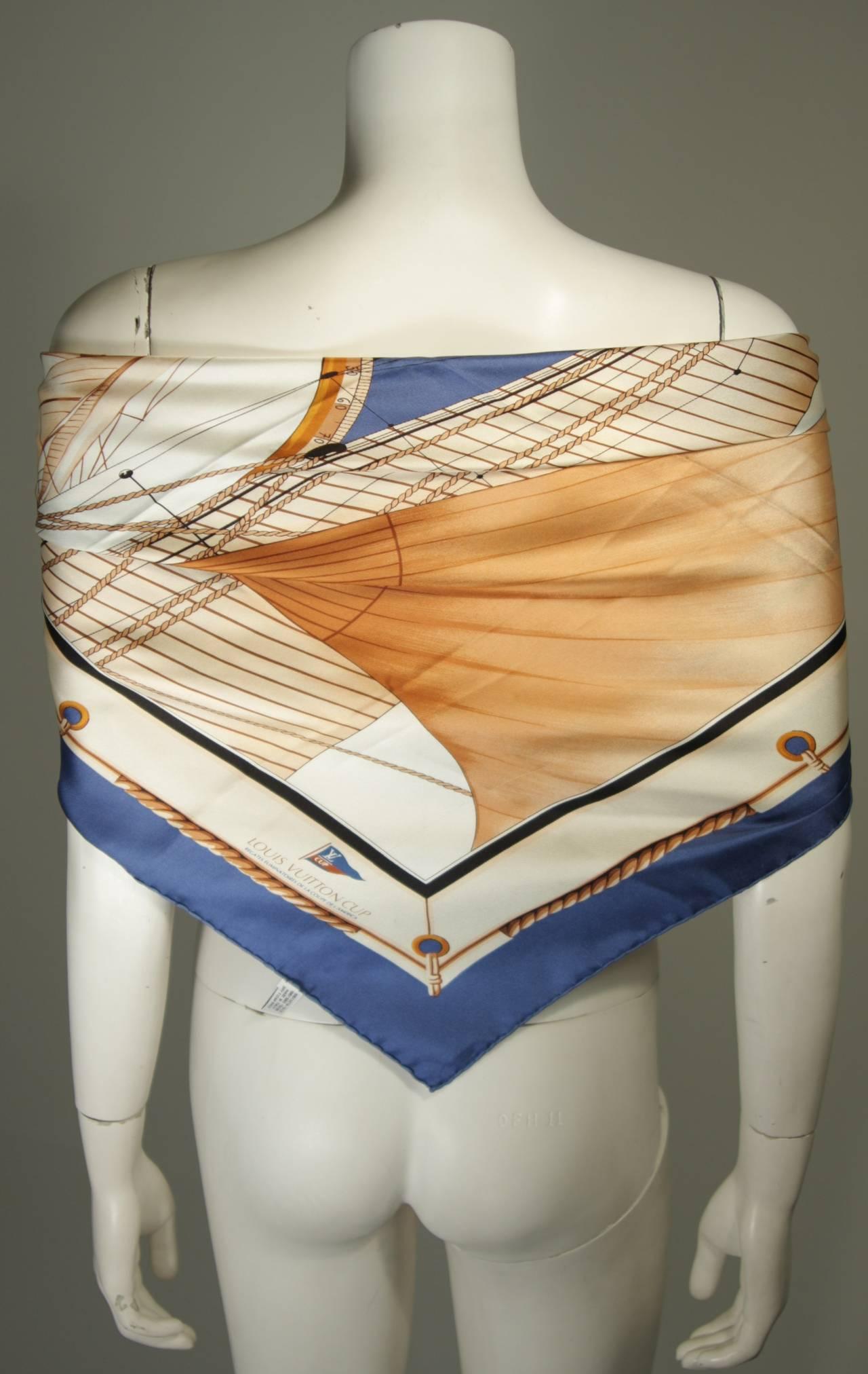 Louis Vuitton Cup Nautical Silk Scarf 3