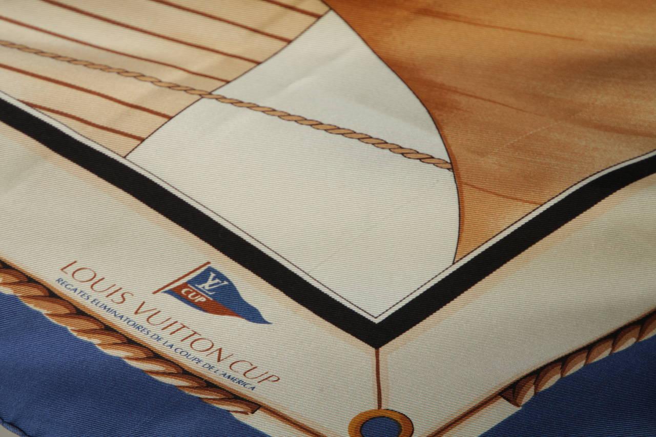 Louis Vuitton Cup Nautical Silk Scarf 8