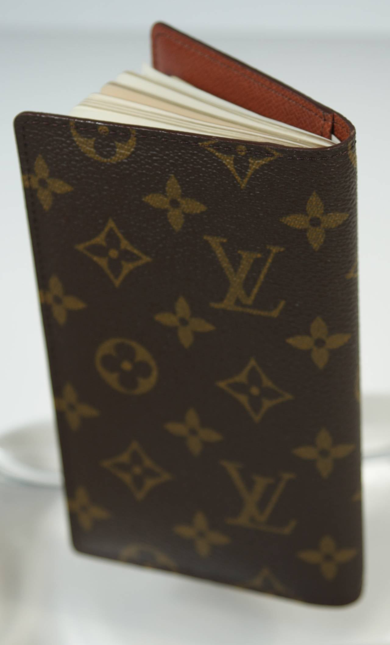 louis vuitton monogram agenda address book and planner with card holder at 1stdibs