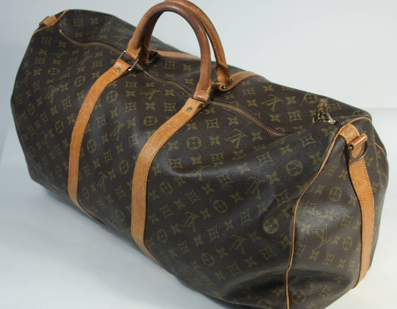 Louis Vuitton Vintage Monogram Large Duffle Carry On Bag 23 5