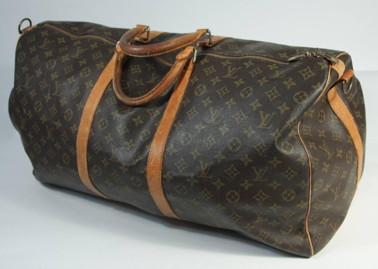 9e27dce329c6 Women s or Men s Louis Vuitton Vintage Monogram Large Duffle Carry-on Bag  23.5