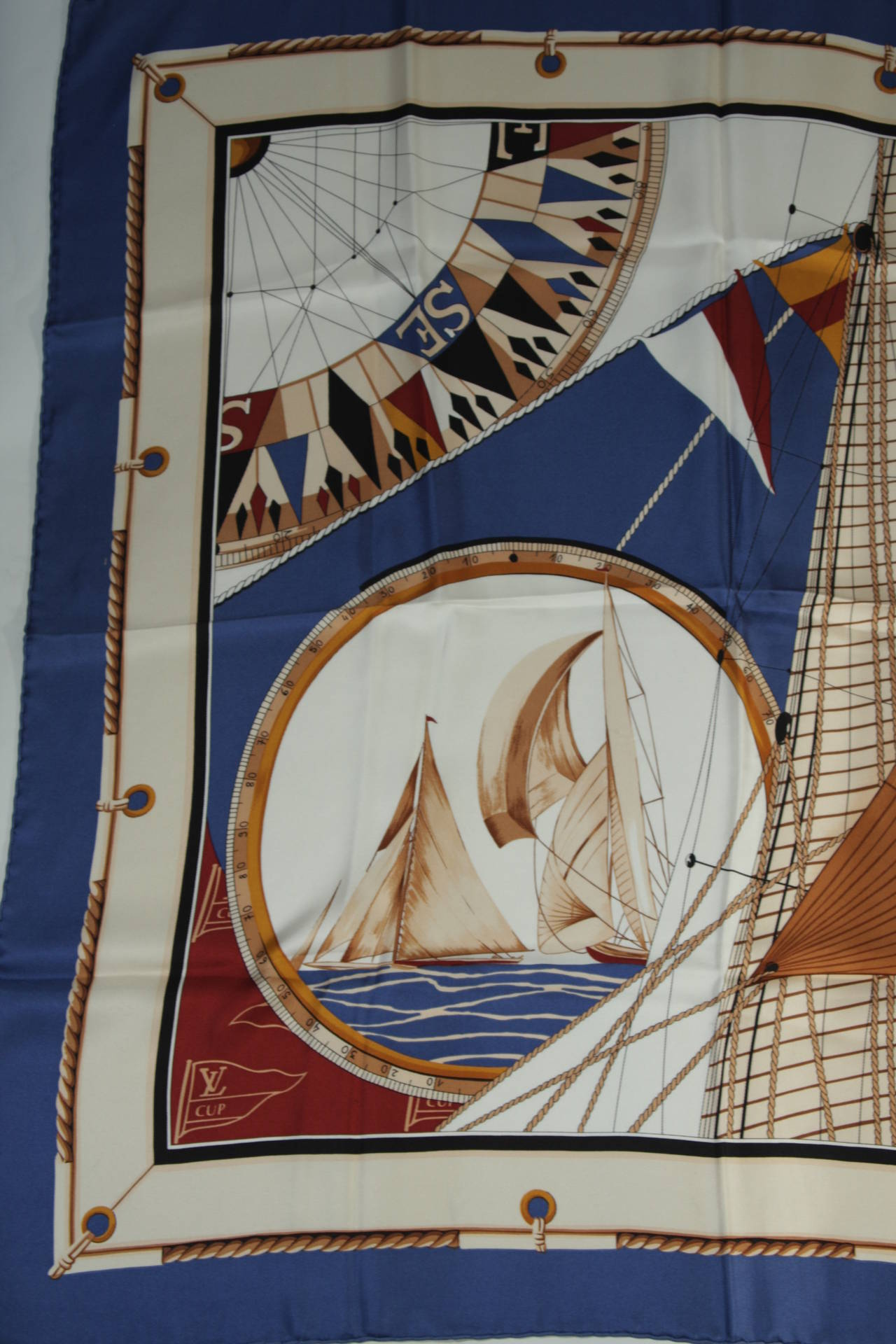 Louis Vuitton Cup Nautical Silk Scarf 6
