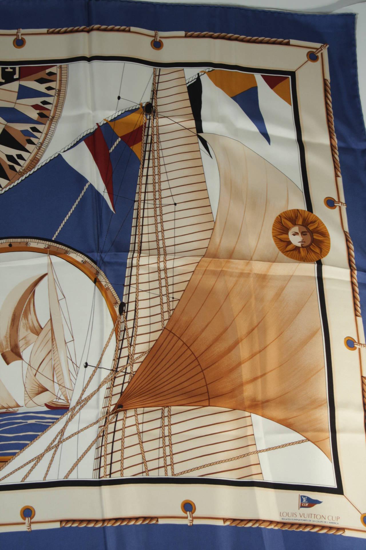 Louis Vuitton Cup Nautical Silk Scarf 7