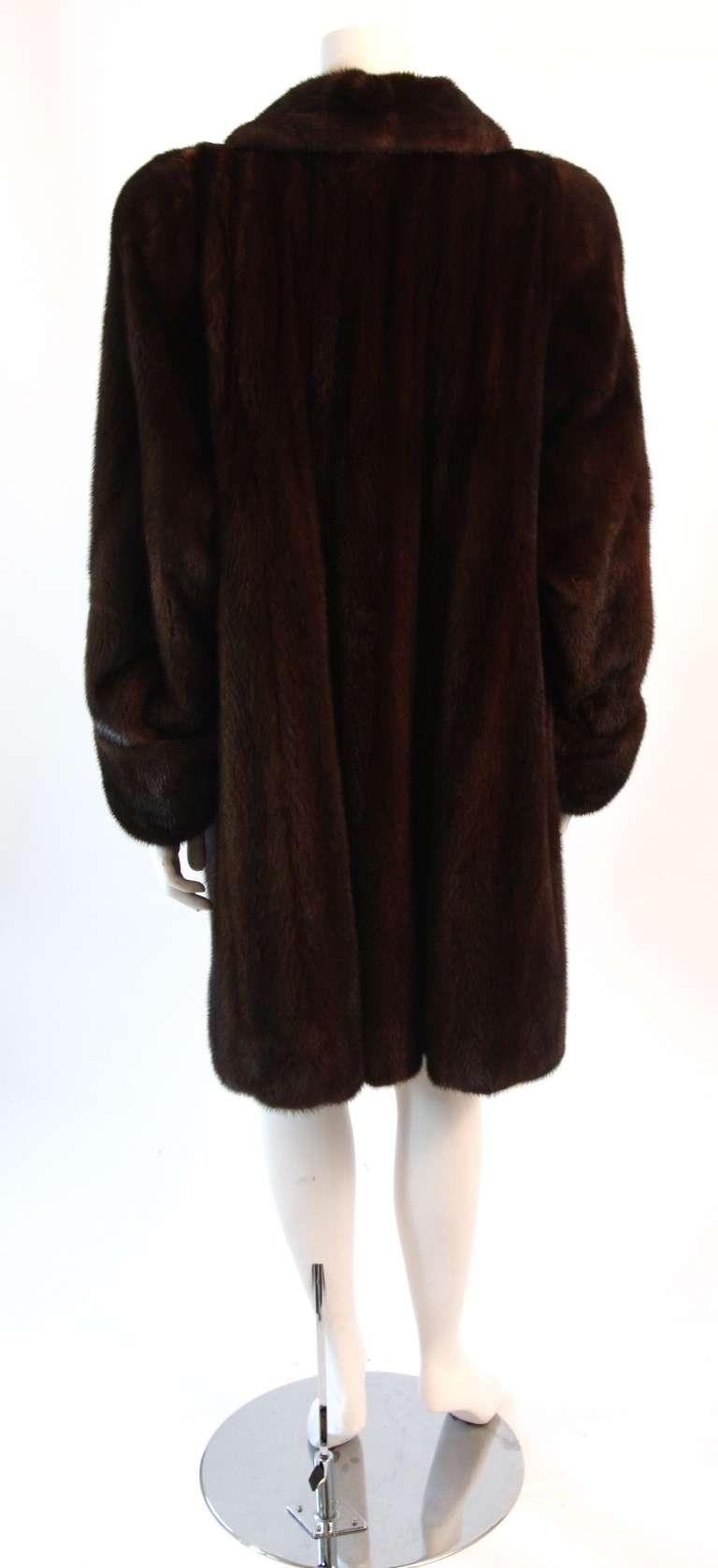 Luscious Somper Fur Couture Shawl Collar Mink 3/4 length Coat sz 6-8 6