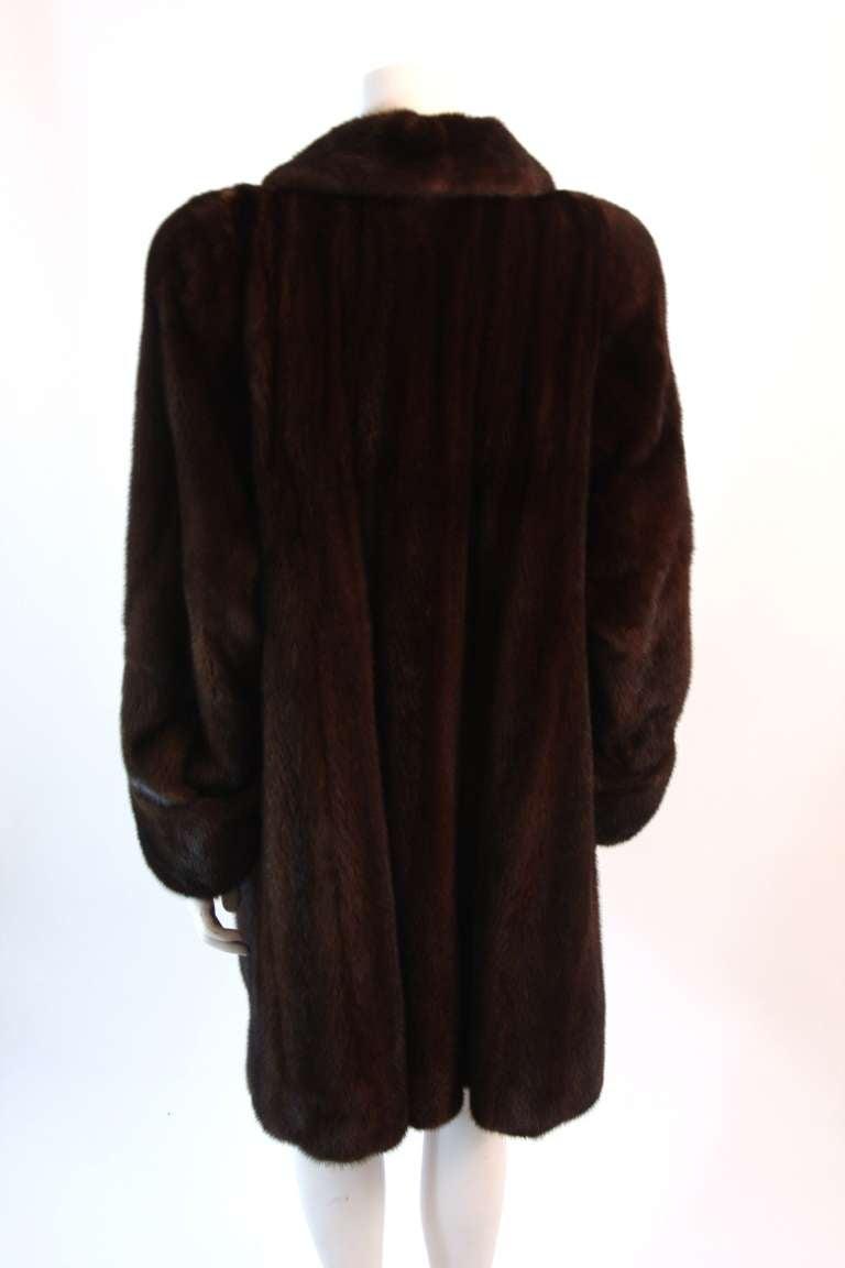 Luscious Somper Fur Couture Shawl Collar Mink 3/4 length Coat sz 6-8 7