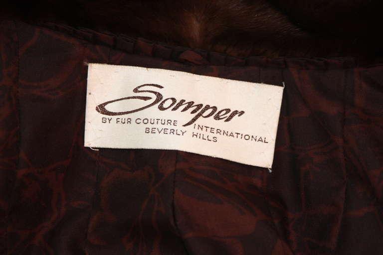 Luscious Somper Fur Couture Shawl Collar Mink 3/4 length Coat sz 6-8 8