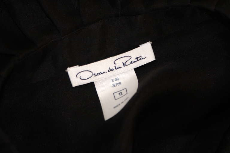 Oscar De La Renta Romantic Sheer Ruffled Blouse Size 12 9