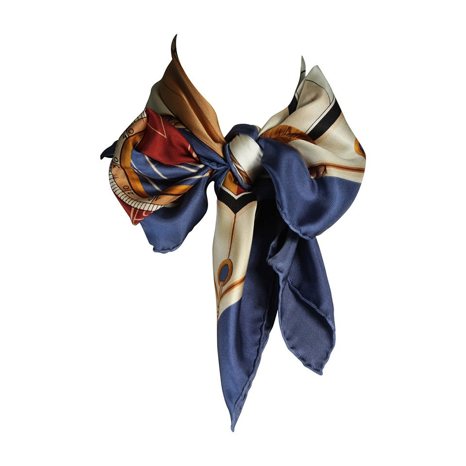 Louis Vuitton Cup Nautical Silk Scarf 1