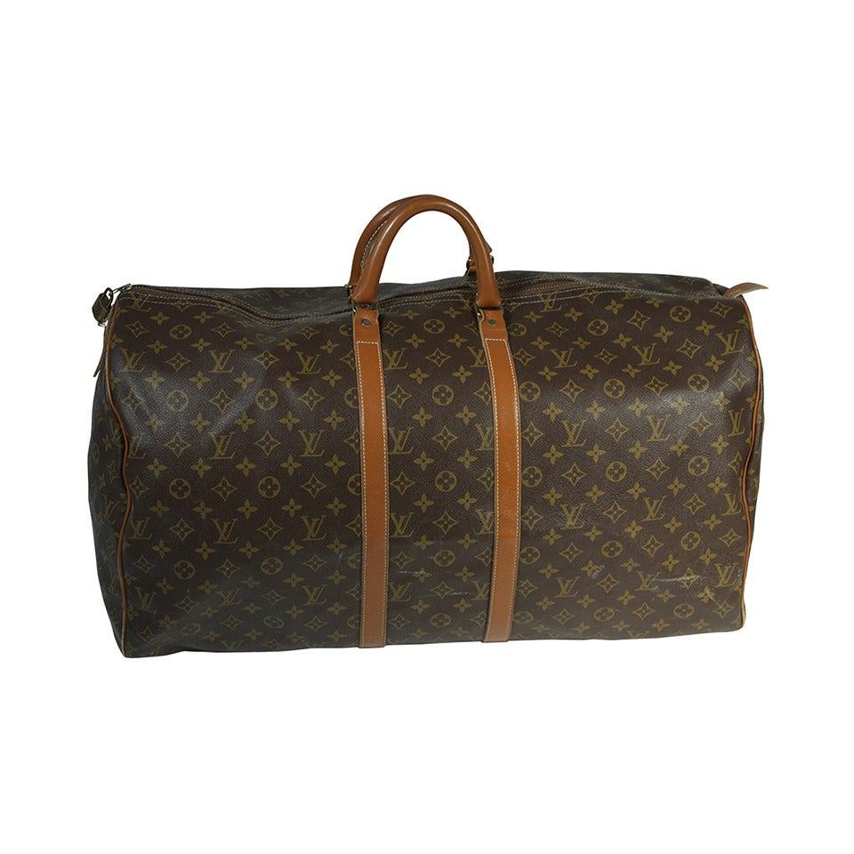 Louis Vuitton Vintage Large Monogram Duffle Bag Luggage at ...