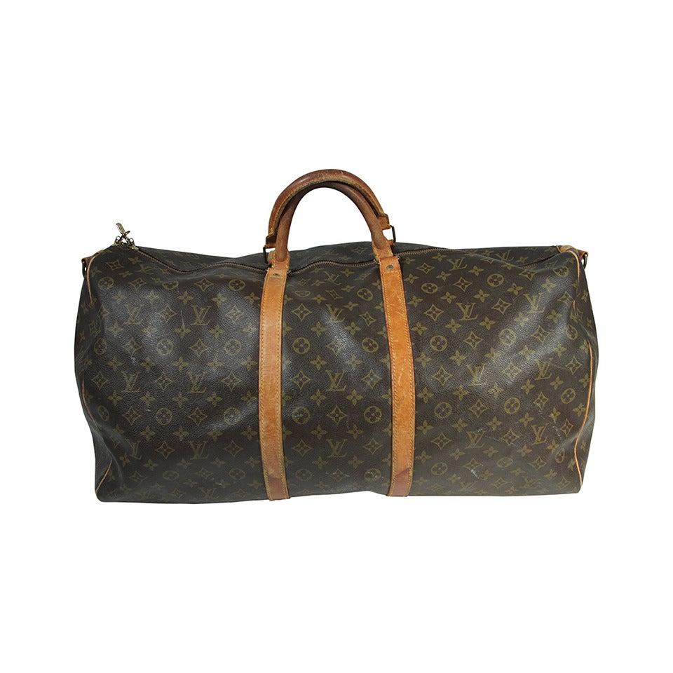 26029d8e9778 Louis Vuitton Vintage Monogram Large Duffle Carry-on Bag 23.5