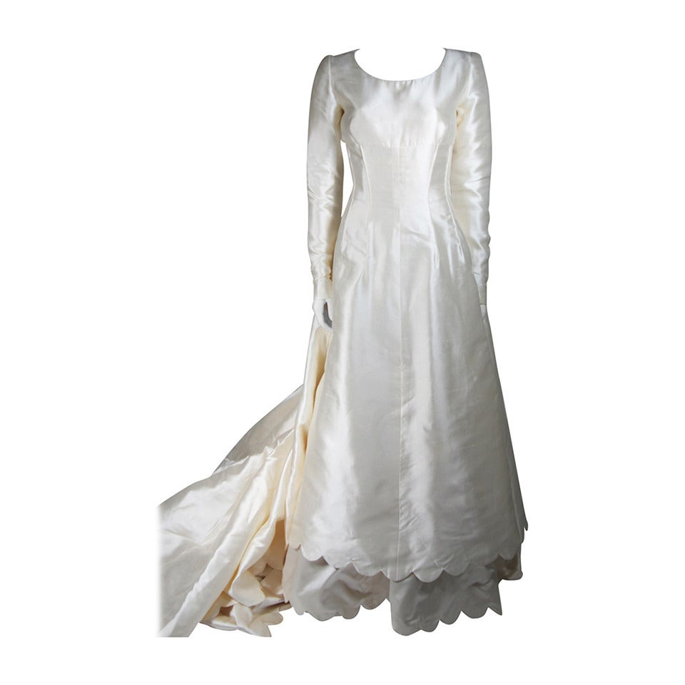 Valentino 1996 Haute Couture Wedding Gown with Valentino Sketches For Sale