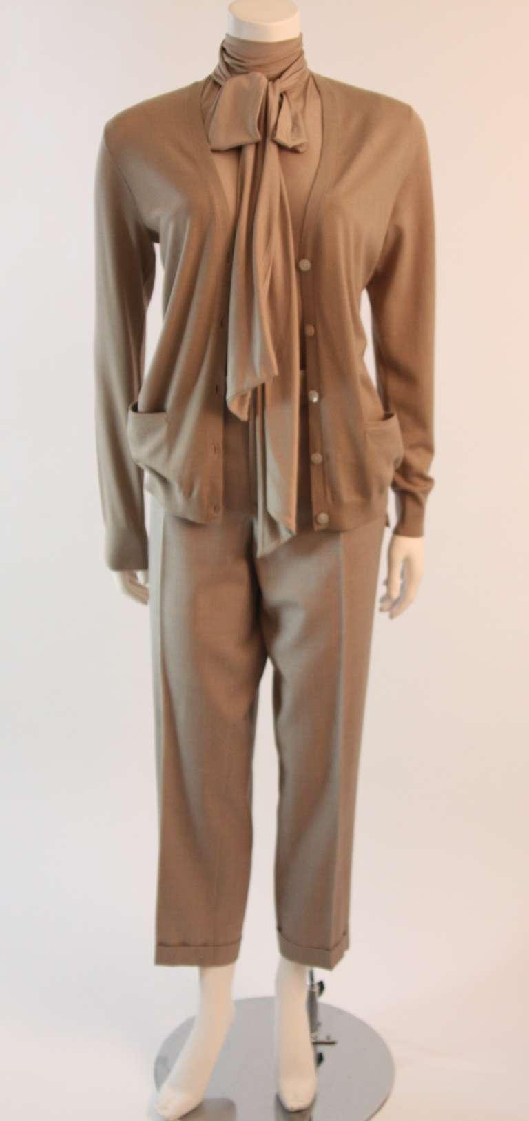 Ralph Lauren Black Label 3 Piece Pant Suit Size 12 2