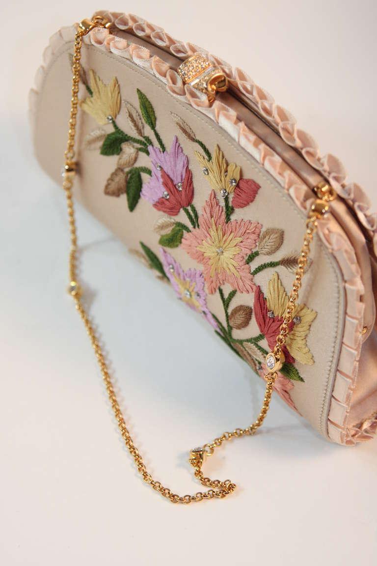 Judith Leiber Embroidered Silk Clutch 5