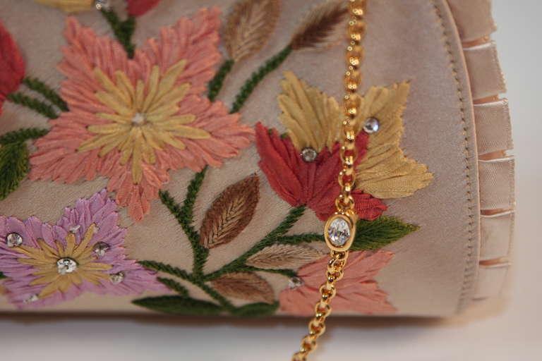 Judith Leiber Embroidered Silk Clutch 8