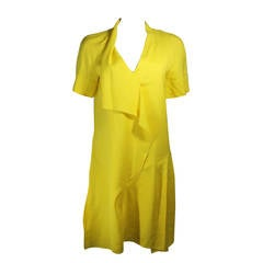 Marni Draped Yellow Linen Dress Size 6