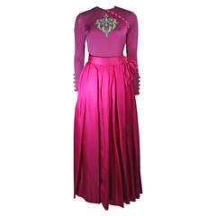 Bob Mackie / Ray Aghayan Evening Skirt Set Ensemble in Purple Size Small