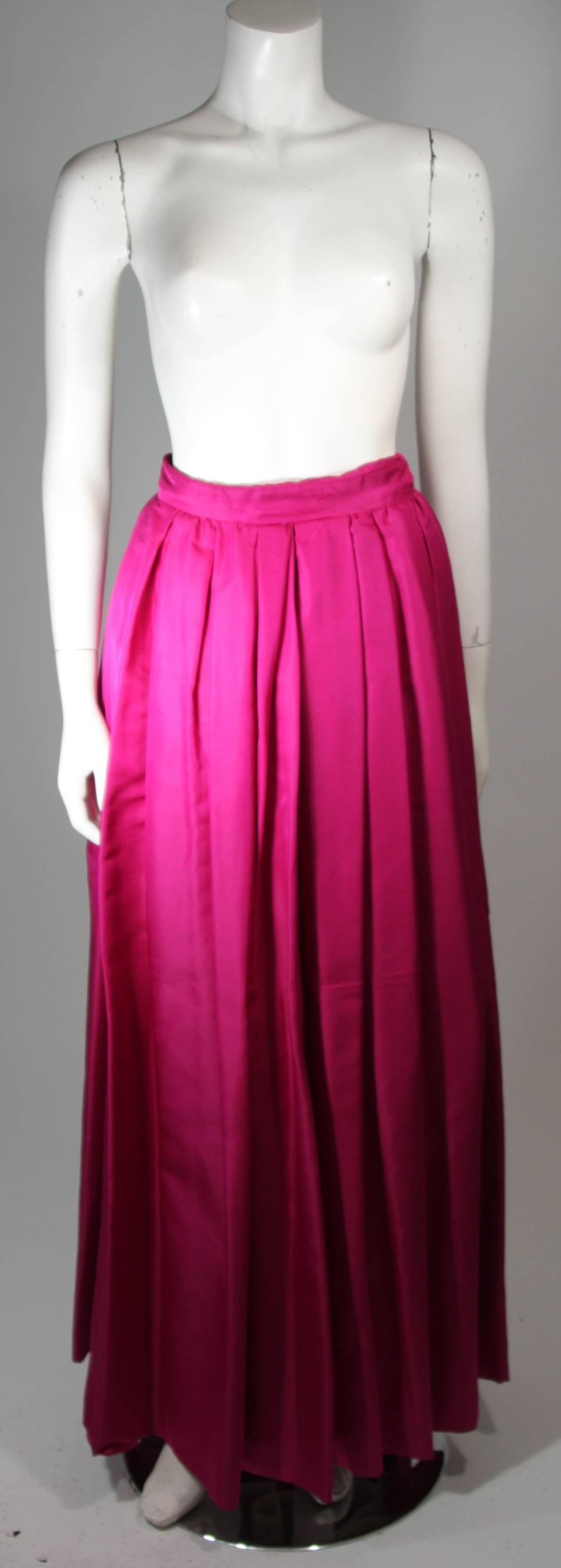 Bob Mackie Evening Skirt Set Ensemble in Purple Size Small 9