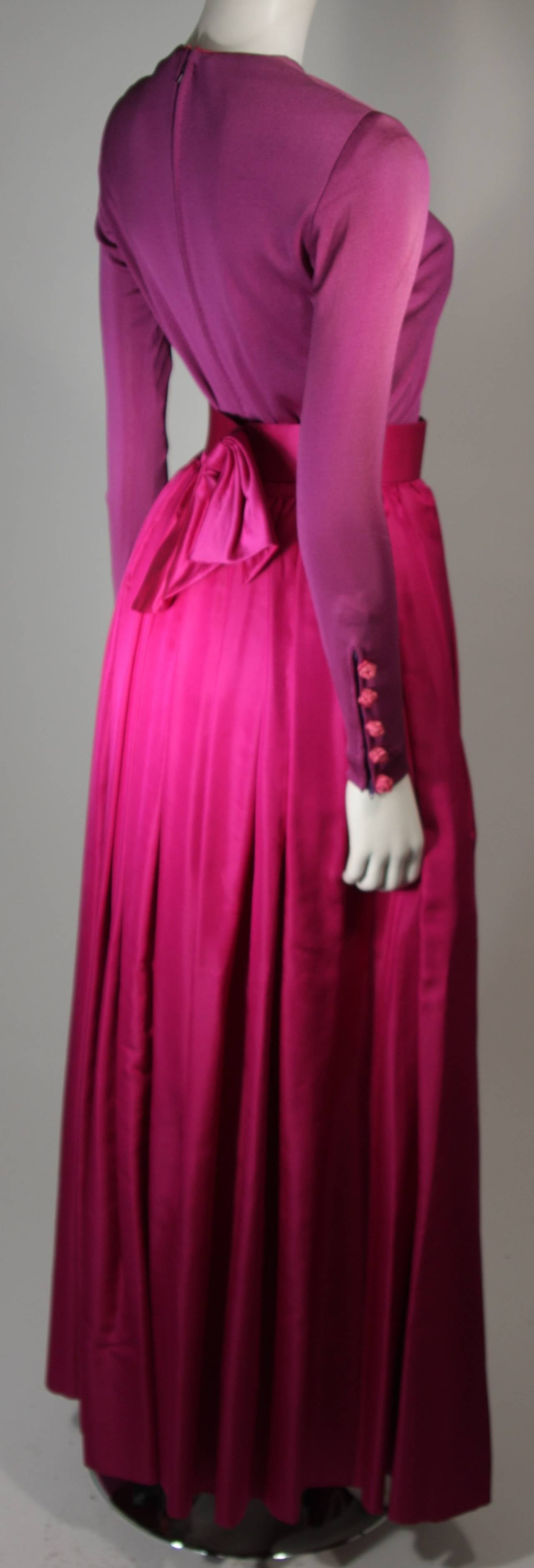 Bob Mackie Evening Skirt Set Ensemble in Purple Size Small 6