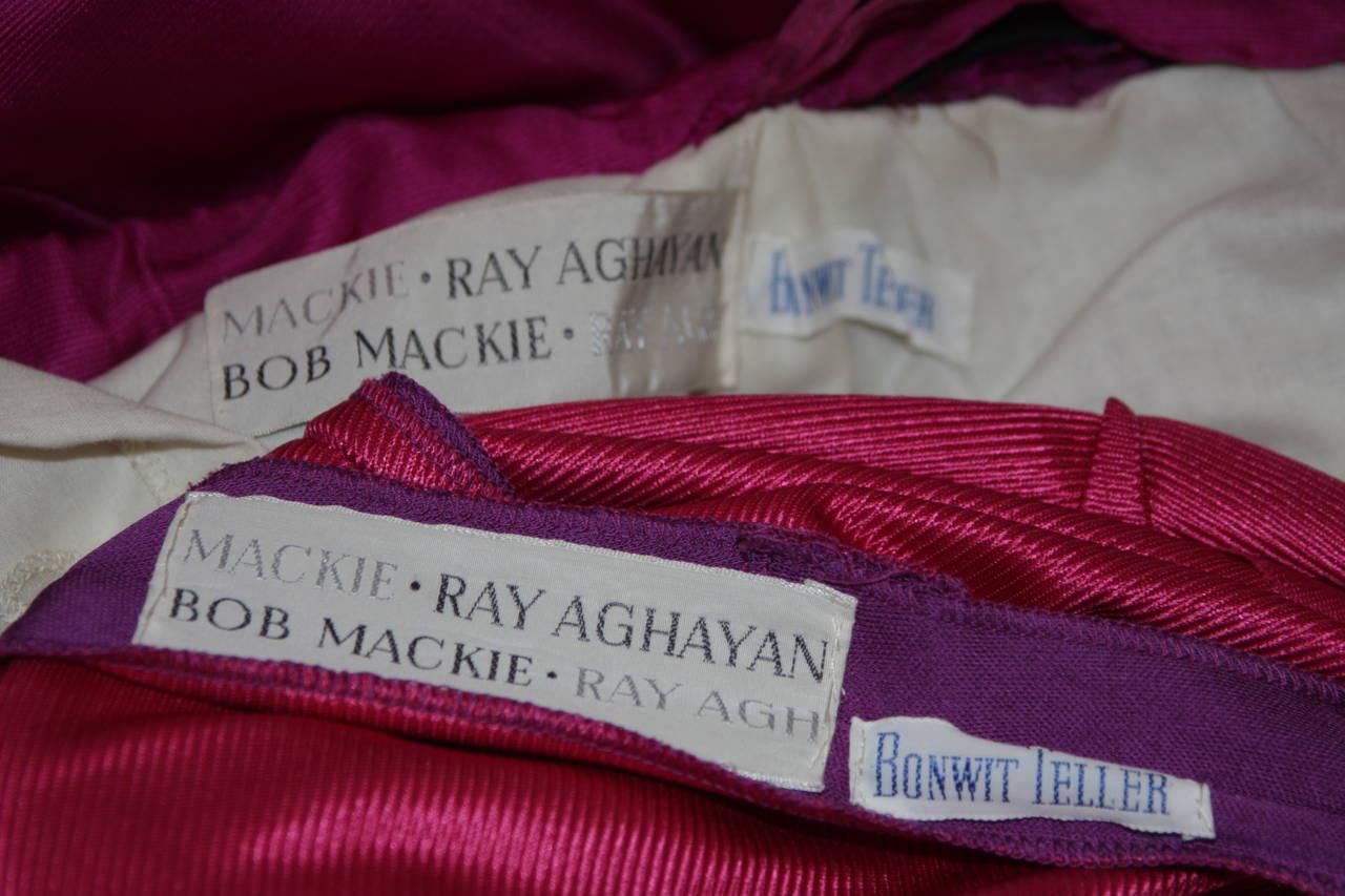 Bob Mackie Evening Skirt Set Ensemble in Purple Size Small 10