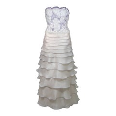 Rutina Wesley's Lavender & Cream Paul Campbell Couture Wedding Gown circa 2005