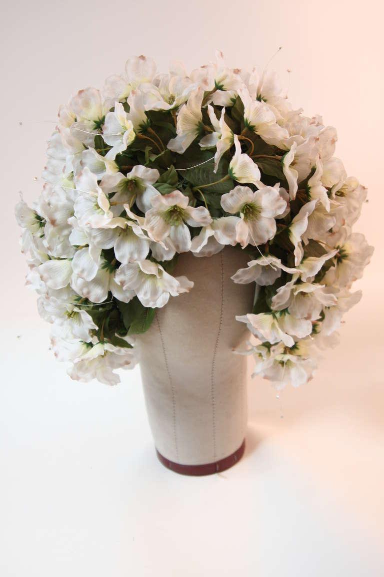 1960's Jack McConnell Playful Floral Bouquet Hat For Sale 2