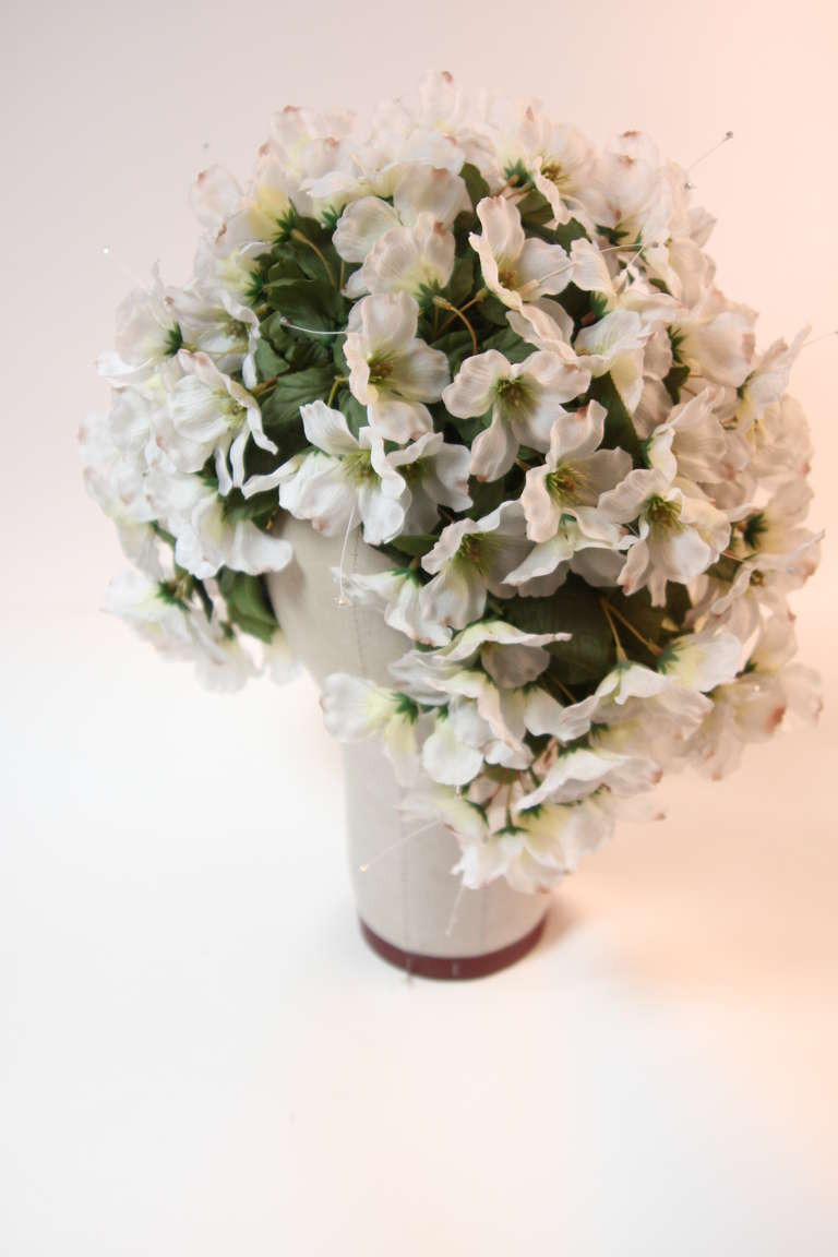 1960's Jack McConnell Playful Floral Bouquet Hat For Sale 3