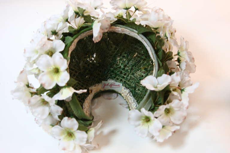 1960's Jack McConnell Playful Floral Bouquet Hat For Sale 4
