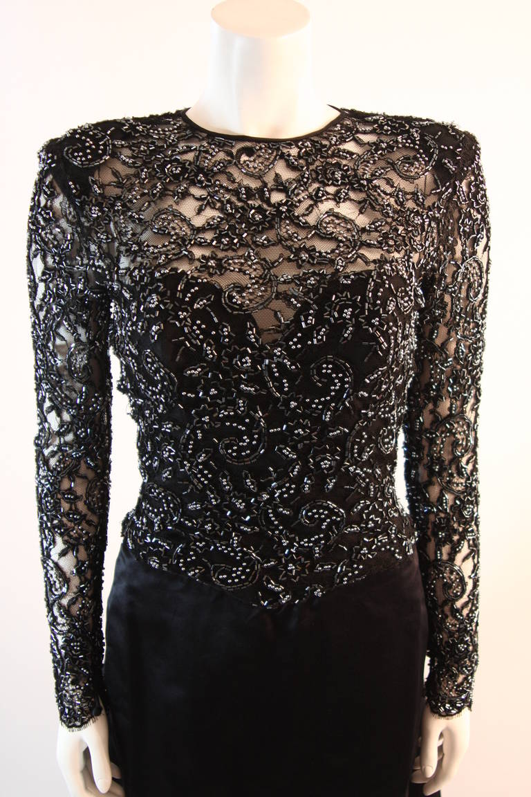 Vicky Tiel Embellished Lace Gown Size 38 3