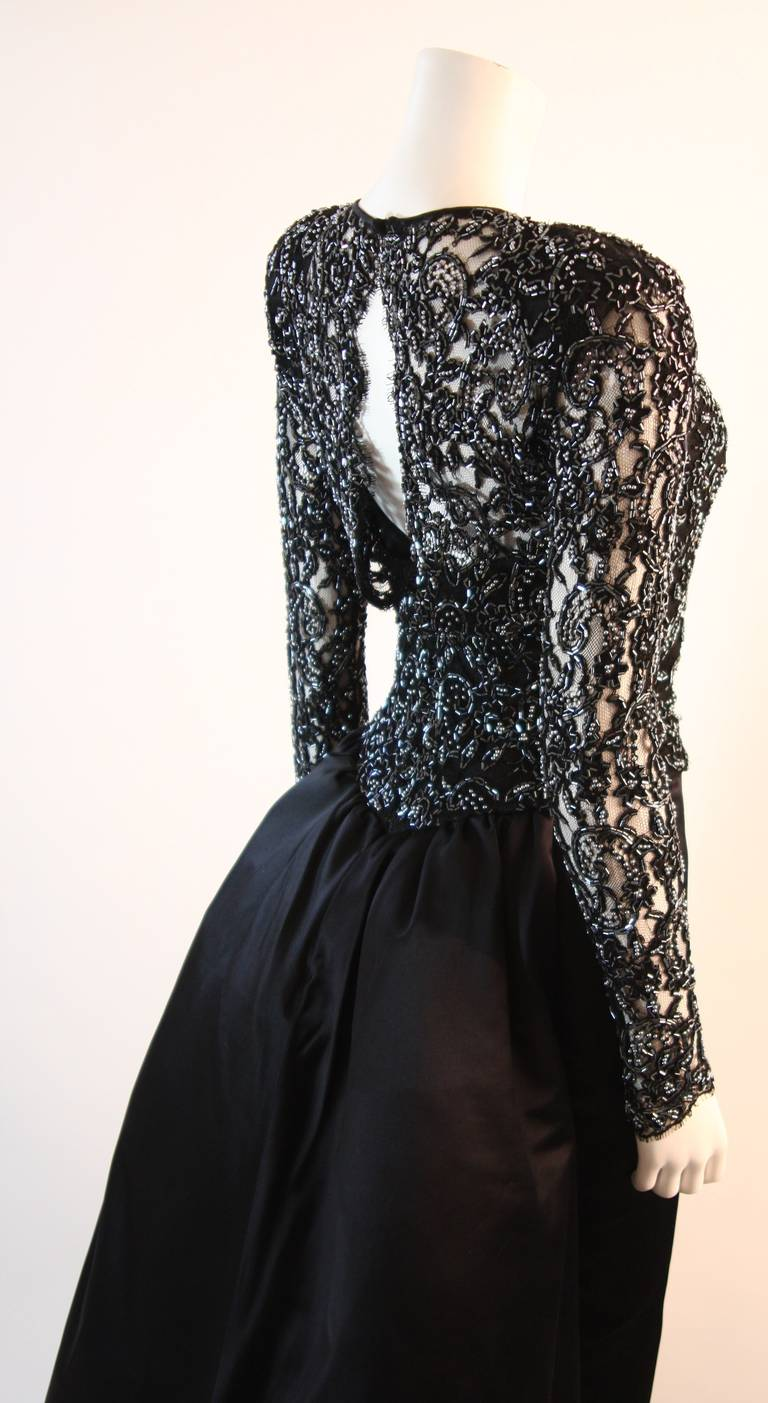 Vicky Tiel Embellished Lace Gown Size 38 8