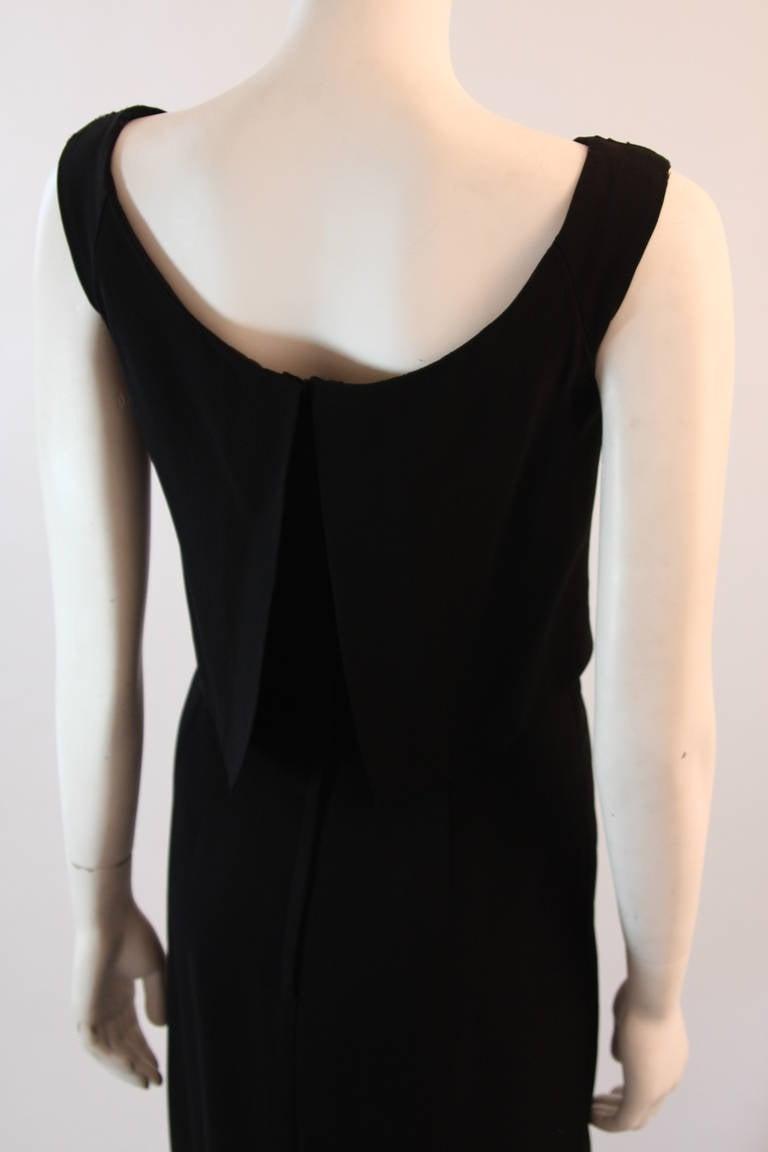 Dorothy O'Hara Black Silk Crepe Gown with Drape front split back design 8