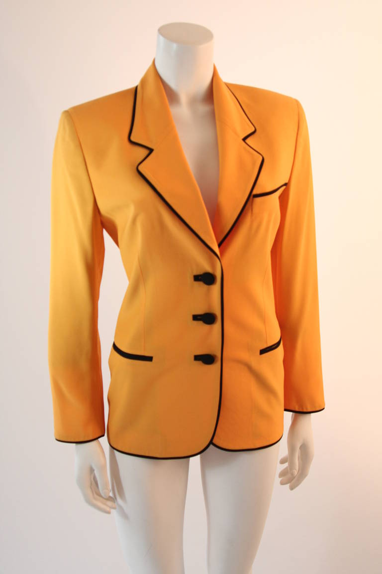 Stellar Moschino Large Smiley Face Blazer In Excellent Condition For Sale In Los Angeles, CA