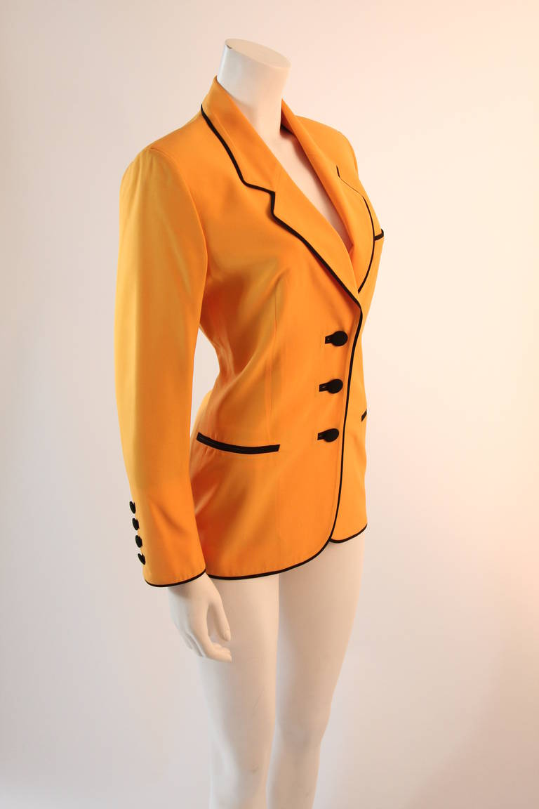 Stellar Moschino Large Smiley Face Blazer For Sale 2