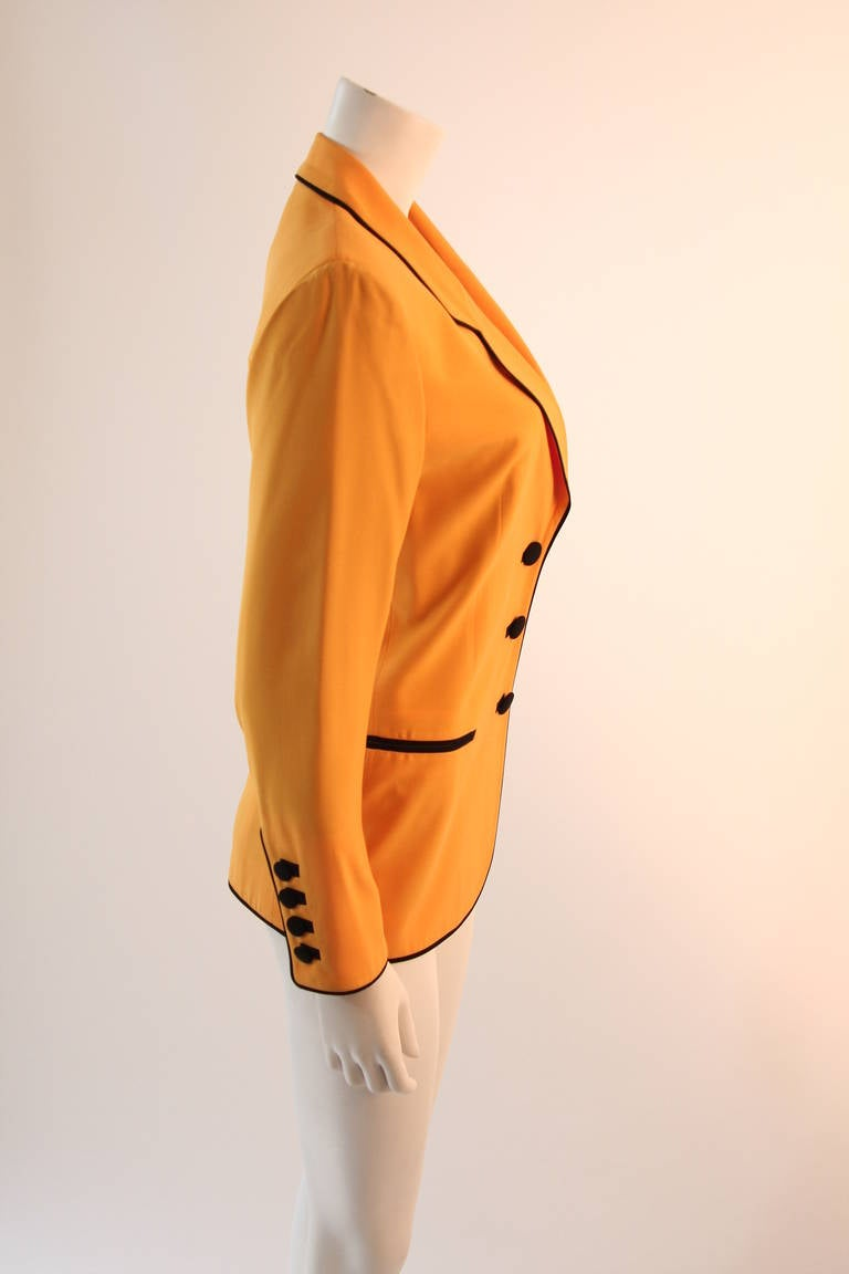 Stellar Moschino Large Smiley Face Blazer For Sale 3