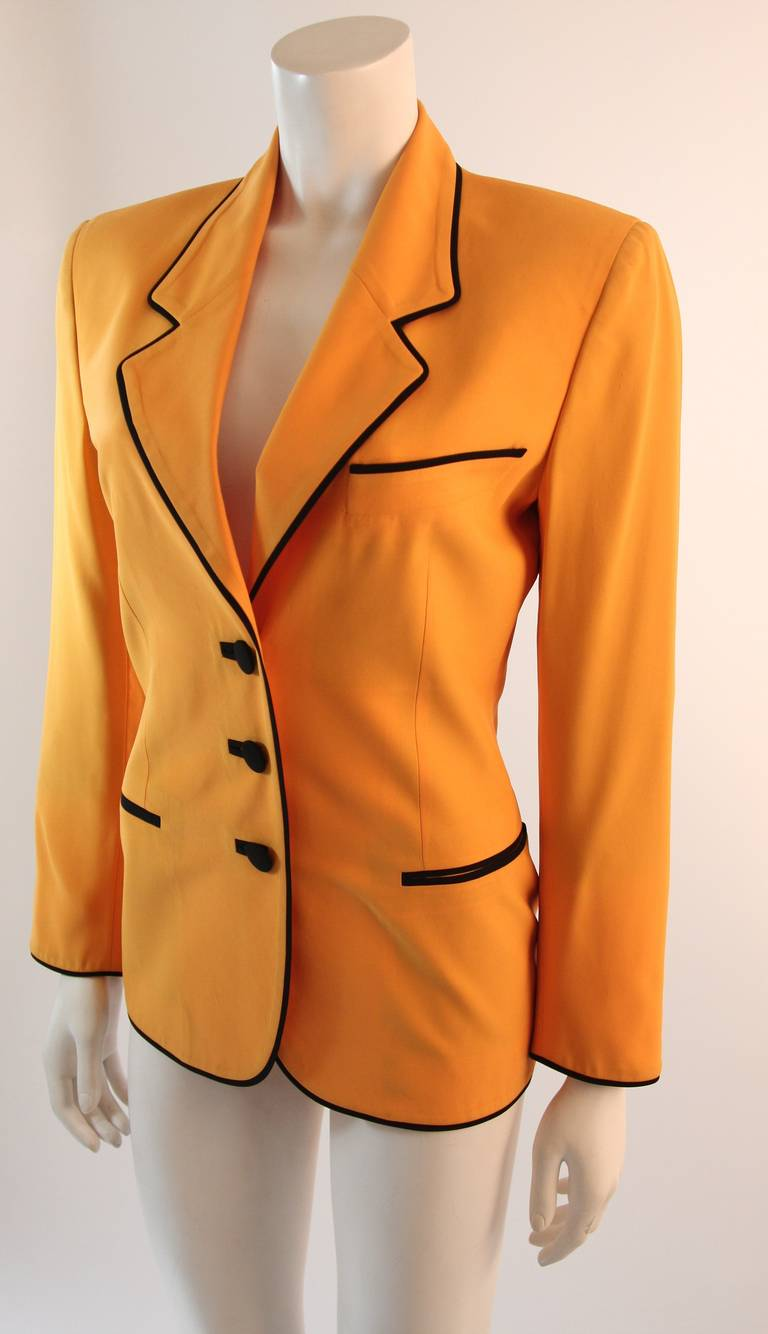 Stellar Moschino Large Smiley Face Blazer For Sale 1