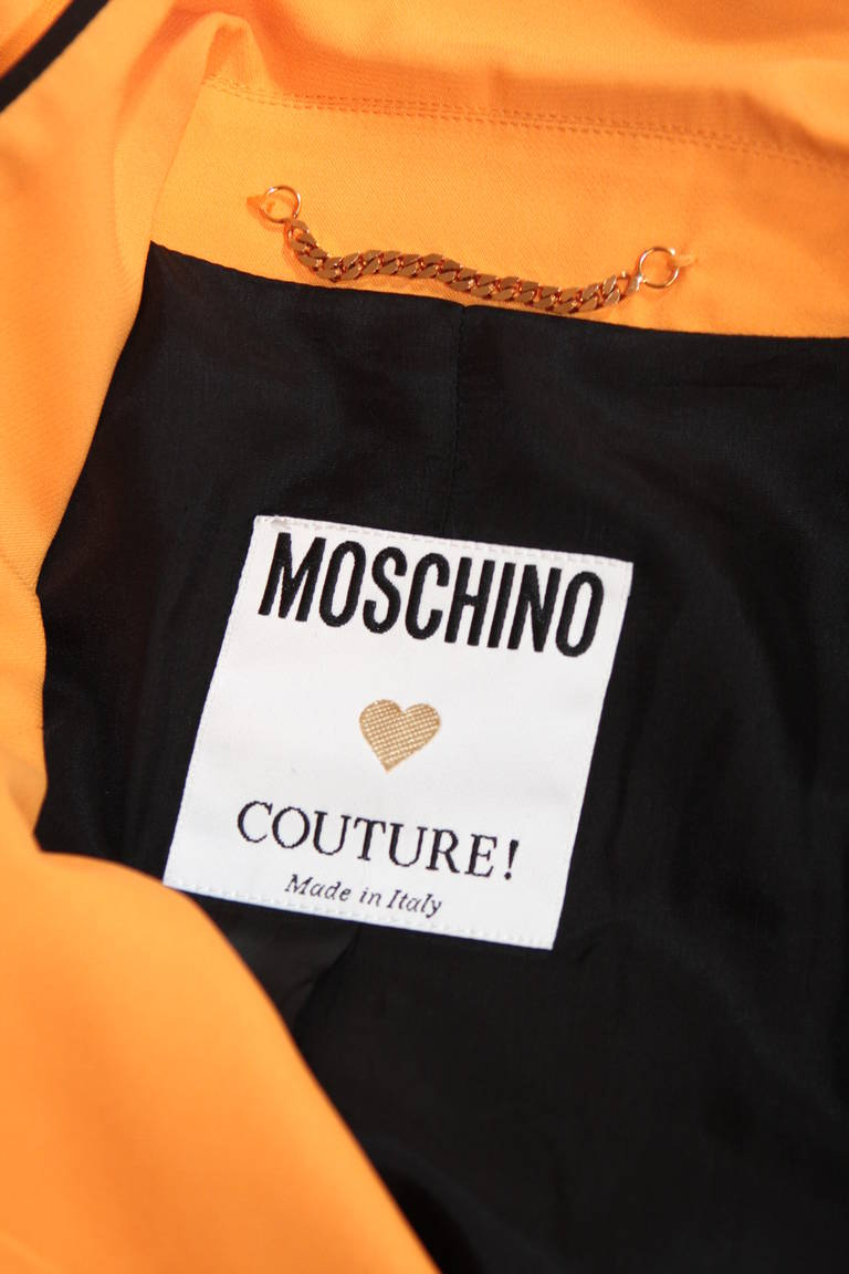 Stellar Moschino Large Smiley Face Blazer For Sale 5