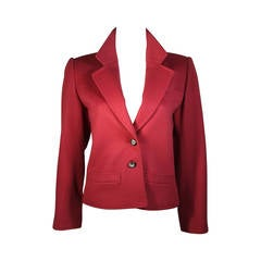Yves Saint Laurent Burgundy Wool Jacket Size 38