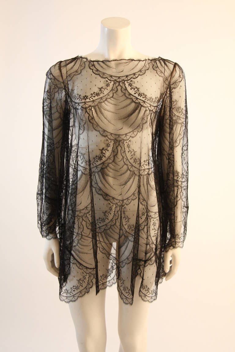 Beautiful Bill Blass Cocktail Dress with Lace Overlay 7