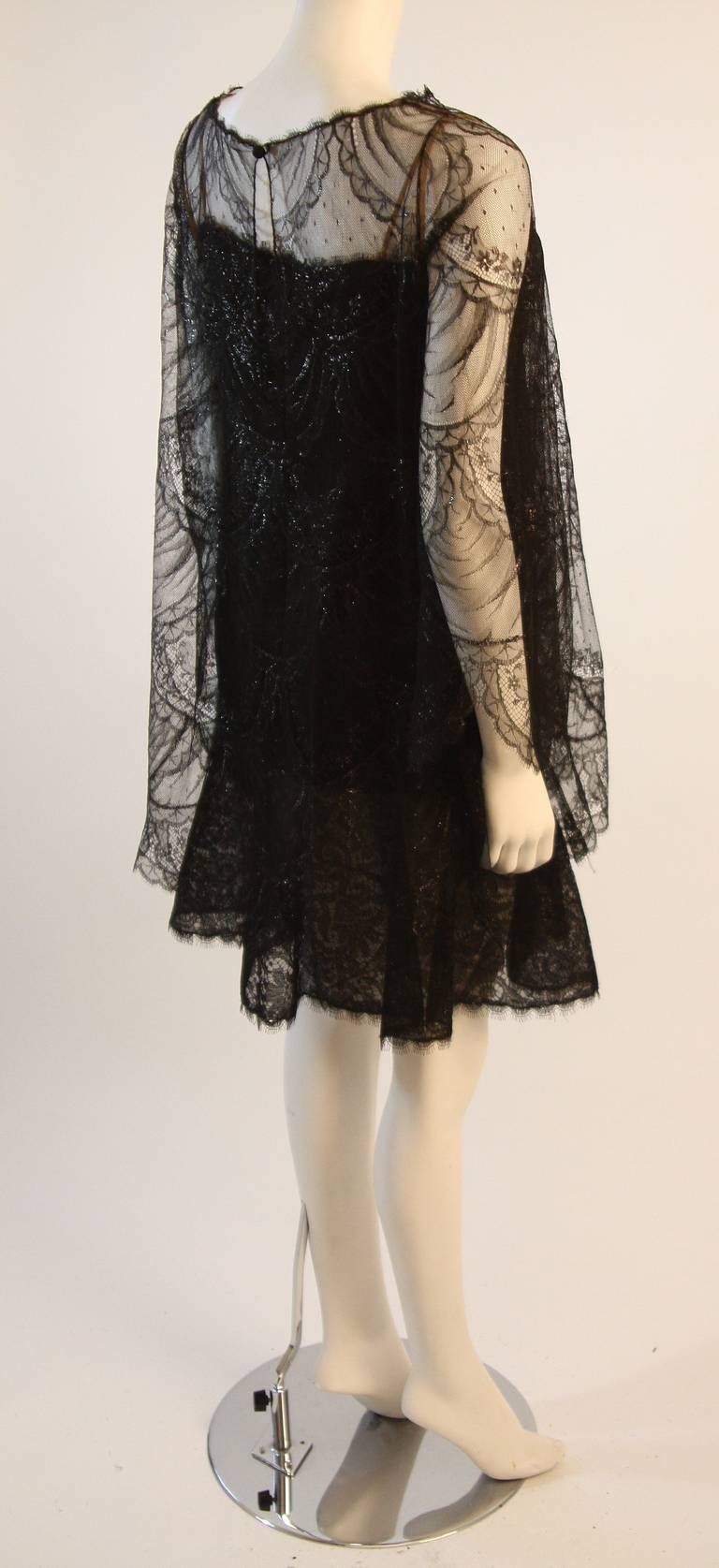 Beautiful Bill Blass Cocktail Dress with Lace Overlay 5