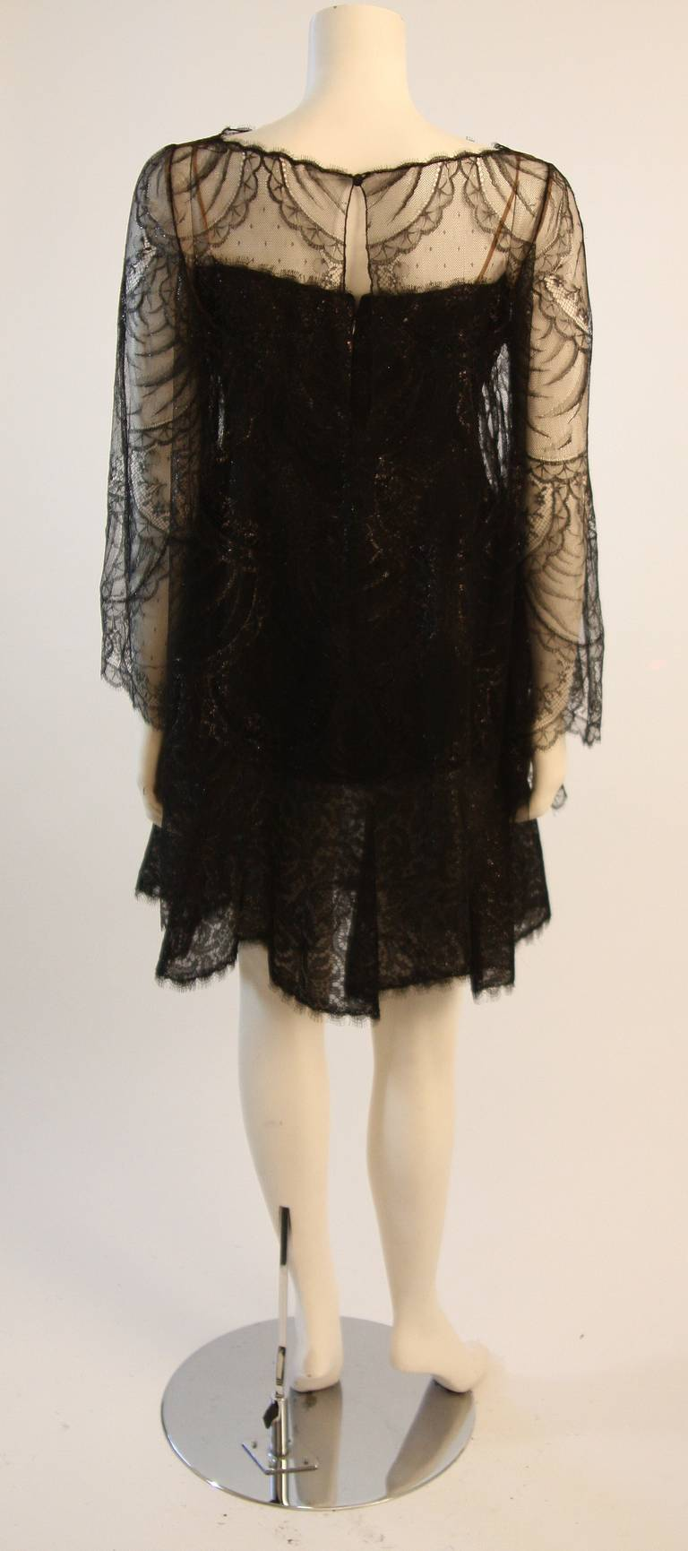 Beautiful Bill Blass Cocktail Dress with Lace Overlay 6