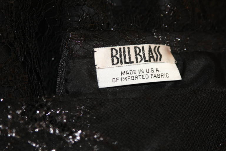 Beautiful Bill Blass Cocktail Dress with Lace Overlay 10