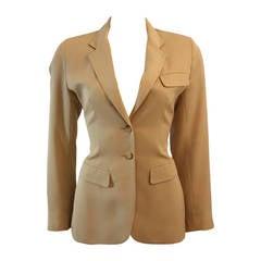 Alaia Khaki Nude Safari Style Blazer Size 40