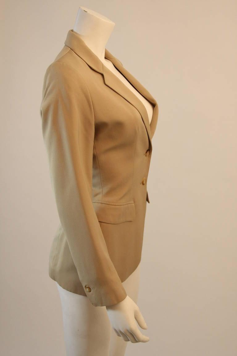 Alaia Khaki Nude Safari Style Blazer Size 40 5