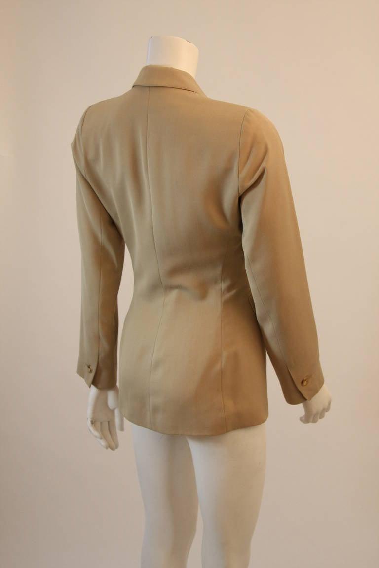 Alaia Khaki Nude Safari Style Blazer Size 40 6