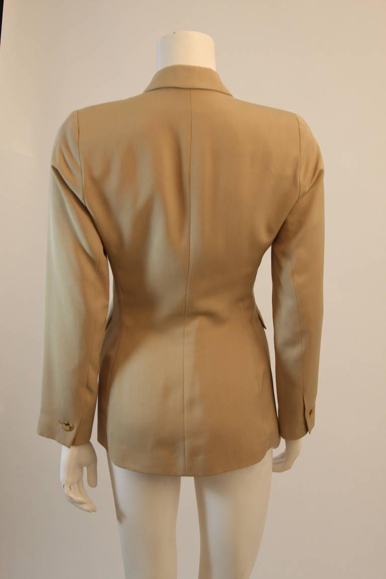 Alaia Khaki Nude Safari Style Blazer Size 40 7
